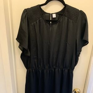 Black shirt sleeve dress